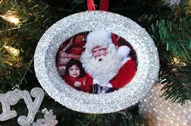 glitter photo tree ornaments two