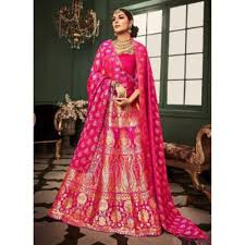 bridal wear banarasi silk bridal wear zari work lehenga choli