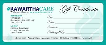 email gift certificates gift certificates kawartha care wellness centre