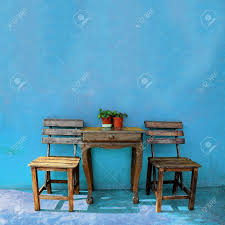 Vintage Wooden Chair Old Vintage Wooden Chair And Table Stock Photo Picture And