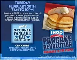 Get Free Pancakes At Participating Ihop Free Pancake Day 2012 From 7am To 10pm Today Z6mag