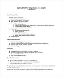 Camp Counselor Resume Youth Resume Examples Chic Ideas Social Work Resume Sample 6