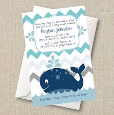 whale themed baby shower whale baby shower invitation a splash of boy blue chevron