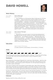 Web Content Manager Resume College Resume Application Samples Cheap Report Ghostwriter