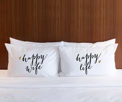 his and hers wedding gifts pillowcase gift for couples or wedding gift for