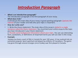 awesome collection of example of introduction paragraph to an