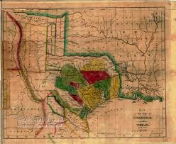 Old United States Map by Map Of The State Of Coahuila And Texas 1836 Tslac