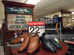 kmart s boots nz a display of thom mcan shoes a footstar inc brand at a k