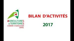 chambre d agriculture cantal bilan d activités 2017