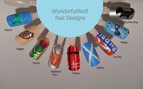 scottish nail art u2013 wonderfulwolf