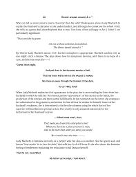 analysis of lady macbeth in william shakespeare u0027s macbeth pare u2026