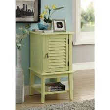 Yellow Storage Cabinet Yellow End Tables Accent Tables The Home Depot