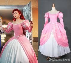 Sleeping Beauty Halloween Costume Professional Mermaid Princess Ariel Pink Dress Sleeping