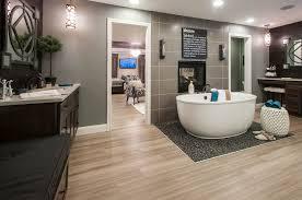 modern master bathroom with undermount sink u0026 freestanding bathtub