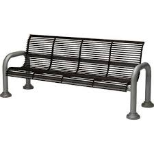 Steel Outdoor Bench Steel Black Outdoor Benches Patio Chairs The Home Depot