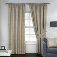 opulence linen damask jacquard luxury pencil pleat curtains pair