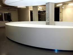 White Gloss Reception Desk Magnificent Oval Reception Desk Commercial Furniture Beuty Salon