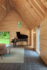 hga creates cedar clad cottages for classical musicians in vermont