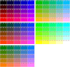 file palette of 125 main colors with rgb components divisible by