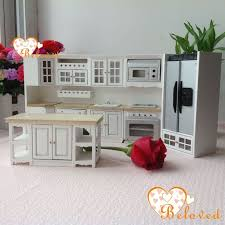 dollhouse furniture kitchen bl 1 12 dollhouse miniature diy furniture wood oak kitchen set