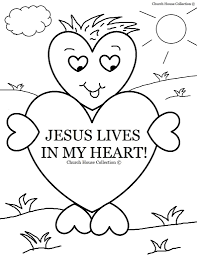 coloring pages valentine jesus lives in my heart coloring page