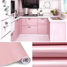 selbstklebende folie k che kinlo aufkleber küchenschränke rosa 61x500cm aus hochwertigem pvc