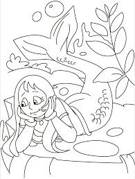 thinking mermaid coloring pages download free thinking mermaid