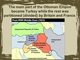Ottoman Empire In Wwi The Fall Of The Ottoman Empire And Conflict In Sw Asia Ppt