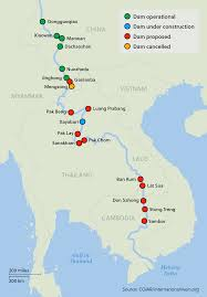 Mekong River Map Hydropower Not Just An Export For World U0027s Top Dam Builder Asia Times