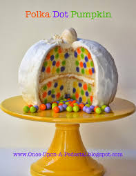 pumpkin cakes halloween once upon a pedestal surprise inside cake hidden mini polka