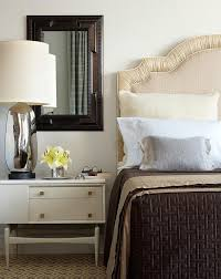 Gray And Brown Bedroom by Cream Headboard Design Ideas