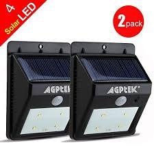 solar powered dusk to dawn light agptek solar powered wireless led security motion sensor light