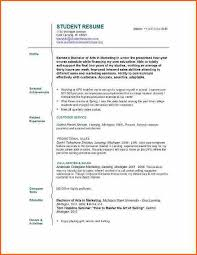 Resume No Experience Template Student Resume Example No Work Experience Templateresume