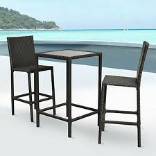 Rattan Bar Table Outsunny Rattan Bar Set 5pc Dining Table Barstool Outdoor Patio