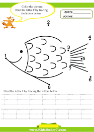 Writing The Alphabet Worksheets Kids Under 7 Alphabet Worksheets Trace And Print Letter F