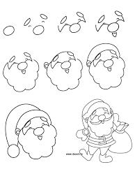 the 25 best how to draw santa ideas on pinterest choses faciles