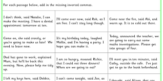 inverted commas ks2 spag test practice classroom secrets