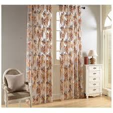 leaves print sheer curtains