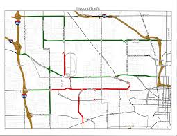 Map Indy 2017 Indy 500 Parade And Race Day Traffic Patterns Indianapolis