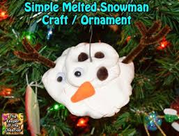 simple melted snowman craft ornament
