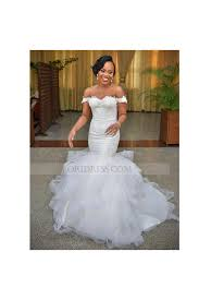 mermaid wedding dresses tulle the shoulder court ivory cap sleeve trumpet