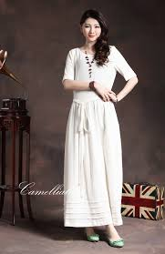 linen clothes for wedding white dress linen dress wedding dress by camelliatune