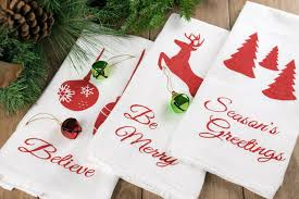 christmas towels christmas stenciled kitchen towels i heart nap time
