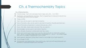 What Is In Law Unit by Ch 6 Thermochemistry Thermochemistry Unit 2 Exam Analysis 20