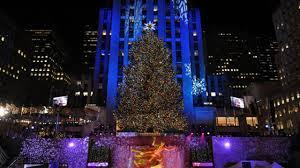 rockefeller center tree lit for 2014 today