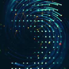 vg01 spiral lights graphic digital blue pattern