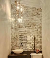 Mirror Tiles For Bathroom Walls | small baths with big impact mirror tiles mercury glass and glass
