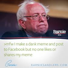How To Make Facebook Memes - mfw bernie sanders bernie sanders know your meme