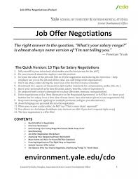 sample job offer letter template and salary negotiation cover