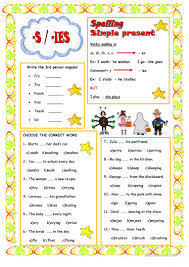 22 free esl 3rd person singular worksheets